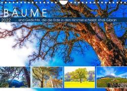 Cover-Bild zu VogtArt: Bäume ... sind Gedichte, die die Erde in den Himmel schreibt. Khali Gibran (Wandkalender 2022 DIN A4 quer)