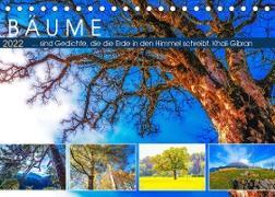 Cover-Bild zu VogtArt: Bäume ... sind Gedichte, die die Erde in den Himmel schreibt. Khali Gibran (Tischkalender 2022 DIN A5 quer)