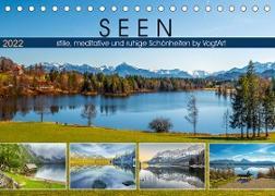 Cover-Bild zu VogtArt: SEEN, stille, meditative und ruhige Schönheiten by VogtArt (Tischkalender 2022 DIN A5 quer)