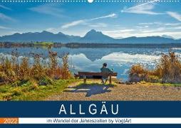 Cover-Bild zu VogtArt: ALLGÄU, im Wandel der Jahreszeiten. (Wandkalender 2022 DIN A2 quer)