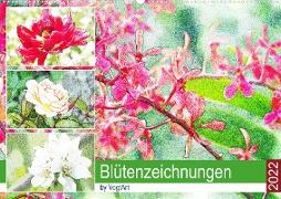 Cover-Bild zu VogtArt: Blütenzeichnungen (Wandkalender 2022 DIN A2 quer)