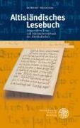 Cover-Bild zu Nedoma, Robert: Altisländisches Lesebuch