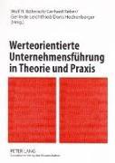 Cover-Bild zu Böhnisch, Wolf R. (Hrsg.): Werteorientierte Unternehmensführung in Theorie und Praxis