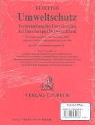 Cover-Bild zu Kloepfer, Michael: Umweltschutz