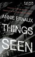 Cover-Bild zu Ernaux, Annie: Things Seen