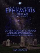 Cover-Bild zu Galactic & Ecliptic Ephemeris 1 - 1000 Ad von Joramo, Morten Alexander