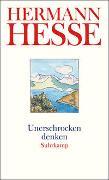 Cover-Bild zu Hesse, Hermann: Unerschrocken denken