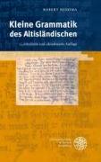 Cover-Bild zu Nedoma, Robert: Kleine Grammatik des Altisländischen