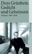 Cover-Bild zu Grünbein, Durs: Gedicht und Geheimnis