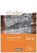 Cover-Bild zu Kuhn, Christina: Studio: Die Mittelstufe, Deutsch als Fremdsprache, B2: Band 2, Unterrichtsvorbereitung mit Kopiervorlagen und Tests
