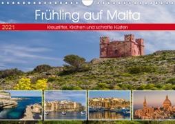 Cover-Bild zu Caccia, Enrico: Frühling auf Malta - Kreuzritter, Kirchen und schroffe Küsten (Wandkalender 2021 DIN A4 quer)