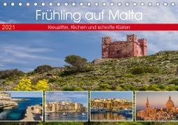 Cover-Bild zu Caccia, Enrico: Frühling auf Malta - Kreuzritter, Kirchen und schroffe Küsten (Tischkalender 2021 DIN A5 quer)
