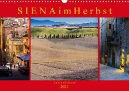 Cover-Bild zu Caccia, Enrico: Siena im Herbst (Wandkalender 2021 DIN A3 quer)