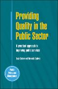 Cover-Bild zu Gaster, Lucy: Providing Quality in the Public Sector