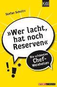 Cover-Bild zu Schultz, Stefan: »Wer lacht, hat noch Reserven«