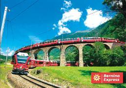 Cover-Bild zu 20501; AK: Viadukt der Rhb bei Brusio Bernina Express