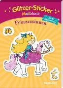 Cover-Bild zu Schmidt, Sandra (Illustr.): Glitzer-Sticker Malblock Prinzessinnen