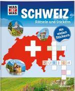Cover-Bild zu Tessloff Verlag Ragnar Tessloff GmbH & Co.KG (Hrsg.): WAS IST WAS Rätseln und Stickern: Schweiz