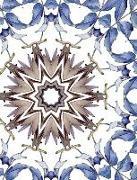 Cover-Bild zu Barr, Kateri Catherine: Watercolor Autumn Leaves Mandala Half Blank Half College Lined Composition Book: Spiritual Self-Help Therapy Relaxation Inspirational Self-Esteem Crea
