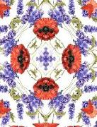 Cover-Bild zu Barr, Kateri Catherine: Lavender and Poppies Watercolor Mandala Half Blank Half College Lined Composition Book: Spiritual Self-Help Therapy Relaxation Inspirational Self-Este