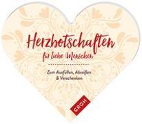 Cover-Bild zu Herzbotschaften für liebe Menschen von Groh Kreativteam (Hrsg.)