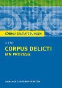 Cover-Bild zu Zeh, Juli: Corpus Delicti: Ein Prozess von Juli Zeh. Königs Erläuterungen (eBook)