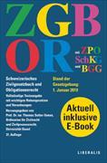 Cover-Bild zu ZGB/OR und ZPO, SchKG und BGG. Schweizerisches Zivilgesetzbuch und Obligationenrecht. Doppelband von Sutter-Somm, Thomas (Hrsg.)
