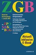 Cover-Bild zu ZGB Schweizerisches Zivilgesetzbuch von Sutter-Somm, Thomas (Hrsg.)
