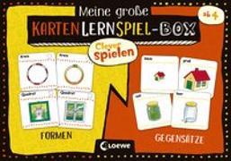 Cover-Bild zu Clever spielen - Meine große KartenLernSpiel-Box - Formen/Gegensätze von Loewe Lernen und Rätseln (Hrsg.)