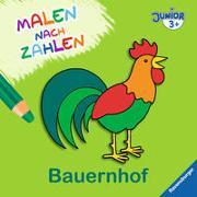 Cover-Bild zu Malen nach Zahlen junior: Bauernhof von Merle, Katrin (Illustr.)