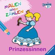 Cover-Bild zu Malen nach Zahlen junior: Prinzessinnen von Merle, Katrin (Illustr.)