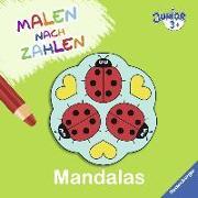 Cover-Bild zu Malen nach Zahlen junior: Mandalas von Merle, Katrin (Illustr.)