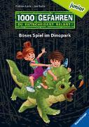 """Cover-Bild zu Lenk, Fabian: 1000 Gefahren junior - Böses Spiel im Dinopark (Erstlesebuch mit """"Entscheide selbst""""-Prinzip für Kinder ab 7 Jahren)"""