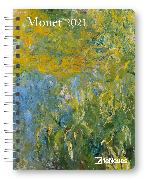 Cover-Bild zu Monet 2021 - Diary - Buchkalender - Taschenkalender - 16,5x21,6 von Monet, Claude