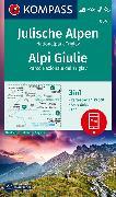 Cover-Bild zu KOMPASS Wanderkarte Julische Alpen, Nationalpark Triglav, Alpi Giulie. 1:25'000