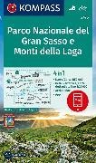 Cover-Bild zu KOMPASS Wanderkarte Parco Nazionale del Gran Sasso e Monti della Laga. 1:50'000