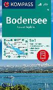 Cover-Bild zu KOMPASS Wanderkarte Bodensee Gesamtgebiet. 1:75'000