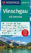 Cover-Bild zu KOMPASS Wanderkarte Vinschgau /Val Venosta. 1:50'000