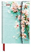 Cover-Bild zu Flowers 2021 - Diary - Buchkalender - Taschenkalender - 10x15