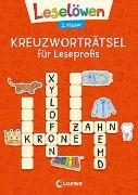 Cover-Bild zu Loewe Erstlesebücher (Hrsg.): Leselöwen Kreuzworträtsel für Leseprofis - 2. Klasse (Rotorange)