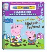 Cover-Bild zu Peppa Pig: Peppa auf dem Matschfestival - Magischer Wassermalspaß von Panini