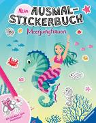 Cover-Bild zu Biber, Ina (Illustr.): Mein Ausmal-Stickerbuch: Meerjungfrauen