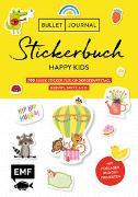 Cover-Bild zu Bullet Journal - Stickerbuch Happy Kids: 700 süße Sticker für Kindergeburtstag, Geburt, Taufe & Co