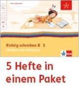 Cover-Bild zu Mein Indianerheft. Richtig schreiben B. Fördern und Inklusion. Arbeitsheft Klasse 3 (5-er Paket)
