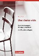 Cover-Bild zu Nouvelle Bibliothèque Junior, Allgemeine Ausgabe, A2+, Une chaise vide, Handreichungen für den Unterricht, Mit Kopiervorlagen von Flach, Dorothee