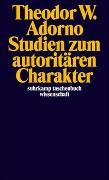 Cover-Bild zu Studien zum autoritären Charakter von Adorno, Theodor W.
