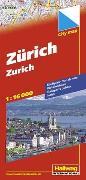 Cover-Bild zu Zürich Stadtplan 1:16 000. 1:16'000 von Hallwag Kümmerly+Frey AG (Hrsg.)