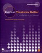 Cover-Bild zu Business Vocabulary Builder Intermediate Students Book & CD Pack von Emmerson, Paul