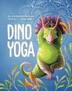 Cover-Bild zu Dino Yoga: A Step-By-Step Guide to 20 Classic Poses for Kids, with Help from Four Dinosaur Friends von Pajalunga, Lorena