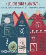 Cover-Bild zu Leuchtender Advent. Bunter Adventskalender-Leporello mit 24 transparenten Türchen